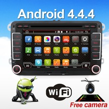 2 dos din Aux gps Quad Core android 4.4 coches reproductor de dvd TV para VW POLO GOLF 5 6 PASSAT CC JETTA TIGUAN TOURAN Skoda Fabia Caddy