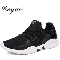 Ceyue New Brand Men Running Shoes Tenis Lace Up Sports Shoes Flyknit Breathable Superstar Shoes Zapatillas