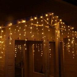 GAISMA 10 M x 0,5 M 320 Lampen LED Vorhang Lichterkette Girlande Weihnachten Außen String lichter Dekoration Für Hochzeit urlaub Partei