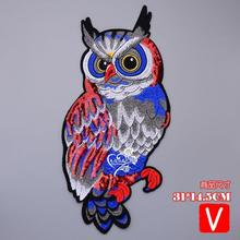 embroidery big parrot patches for jackets,birds badges for jeans,cartoon appliques  A618 embroidery round birds patches for jackets fish badges for jeans appliques a133
