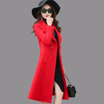 Woolen Jacket Female 2018 Long Overcoat Double Breasted Winter Wool Jacket Women Casaco Feminino Elegant Maxi Coats Parka C3470