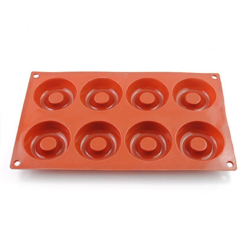 Silikon Donut Form Backen Gebäck Confeitaria Bolo Werkzeug 8-Cups - Küche, Essen und Bar