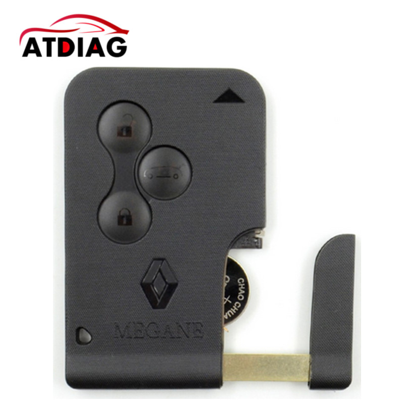 High quality!!!!New for RENAULT MEGANE SCENIC II CLIO ETC RF TYPE 3 BUTTON REMOTE ALARM KEY FOB CARD brand new high quality remote key renault megane smart card 3 button with insert small key blade 434mhz id46 chip