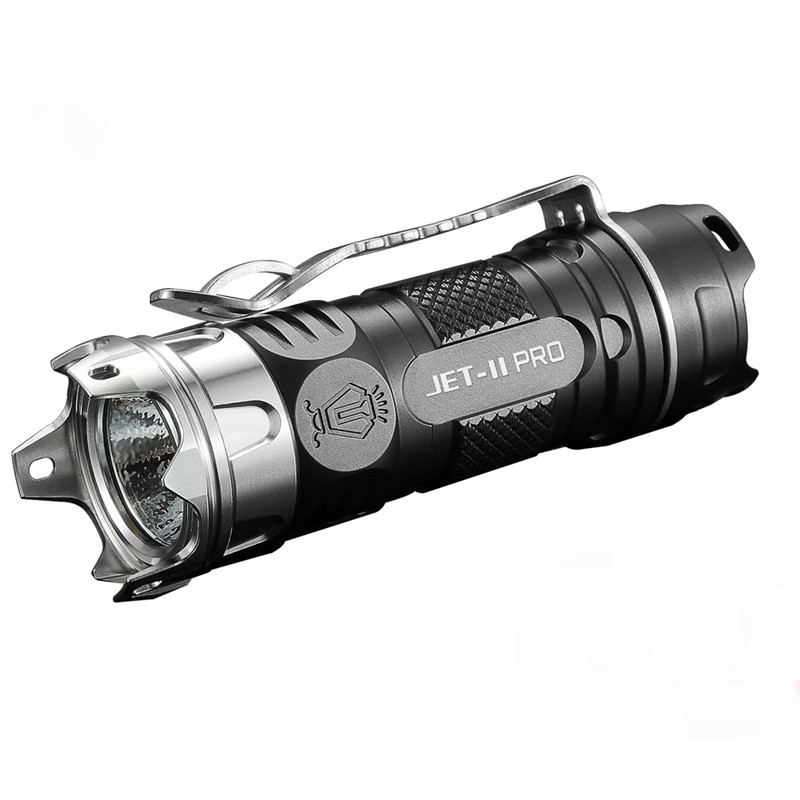 JETbeam Flashlight II PRO TI  XP-L HI 510Lumens16340 EDC LED Modes Rechargeable Portable Lamp Waterproof Bicycle Light C3 niteye ec a12 aa battery rechargeable led flashlight edc light cree xp l led lamp 380 lumens alloy reflector power indicator
