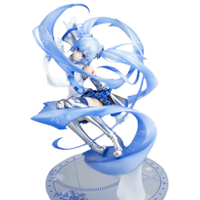 First Snow Miku Scale Figure Hatsune Miku Snow Miku 15th Anniversary 1/7 Scale PVC Figure Collectible Model Toy 24.5cm цена