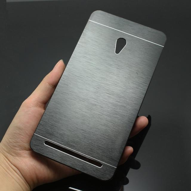 Luxe Hard Case Brosse Metallique Pour Asus Zenfone 6 En Aluminium Couverture Arriere Capa Celular Avec