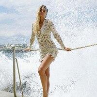 Beach Cover up Crochet White Swimwear Dress Ladies Bathing Suit Cover ups 1