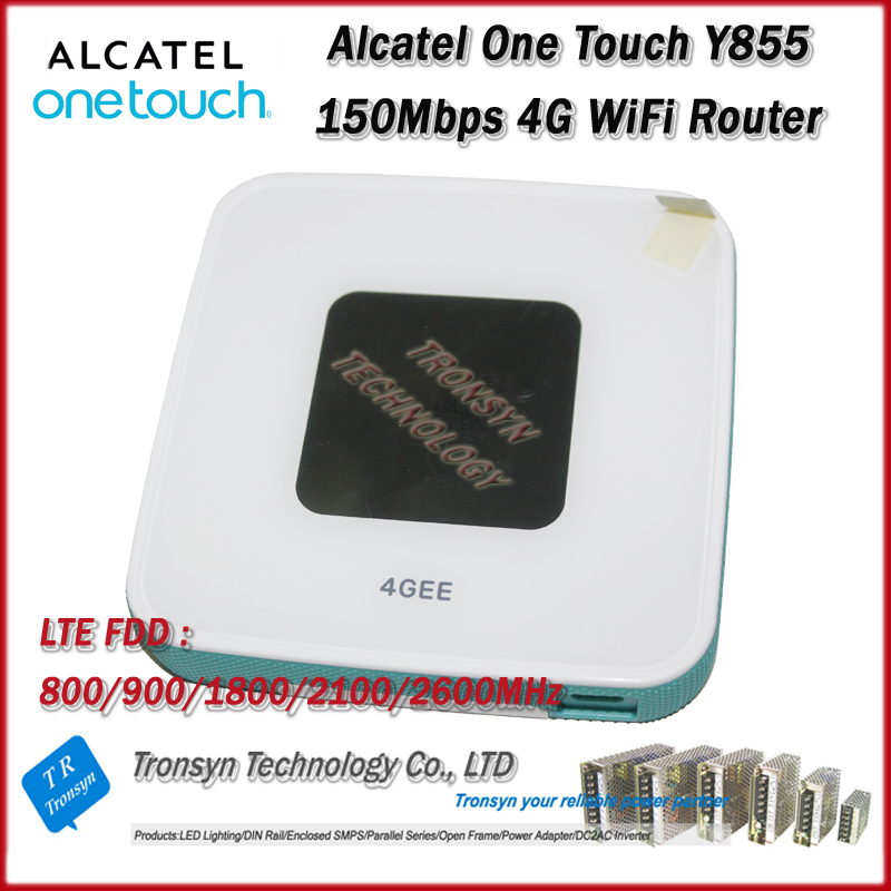 Wholesale Original Unlock LTE FDD 150Mbps Alcatel One Touch Y855 4G MiFi Router Support LTE FDD 800/900/2100/1800/2600MHz wholesale original unlock lte fdd 150mbps alcatel one touch y855 4g mifi router support lte fdd 800 900 2100 1800 2600mhz