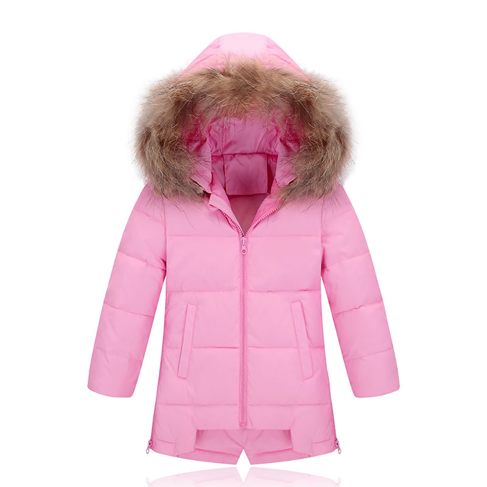 TZ16010 Girls Kids Autumn Winter Jackets 60% Duck Down Long Sleeve Winter Down Coat Keep Warm Outerwear Child Coat Windbreaker xyf8831 girls kids autumn winter down jackets 80