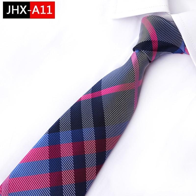 Man's Necktie Striped Silk Ties  Classic Blue Pink  Black Jacquard Tie Suit Wedding Business Ties