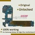 100% original de la placa madre de trabajo para samsung galaxy s6 edge plus g928f placa lógica placa base con fichas completas
