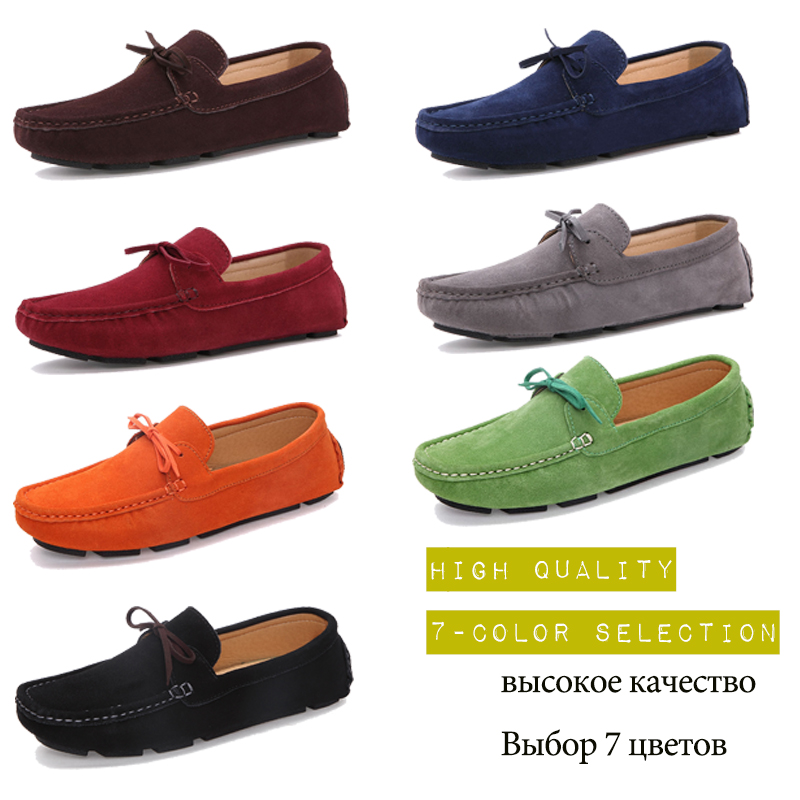 Men Loafers Moccasin hombre Casual Suede Leather Shoes Slip On Shoes Moccasins For Man homme 1
