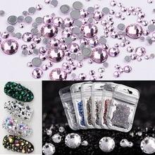 ФОТО  mix size 400pcs/lot hot fix crystal rhinestones glass hotfix strass stone ss6-ss20 iron on clothes decoration,diy garment decor