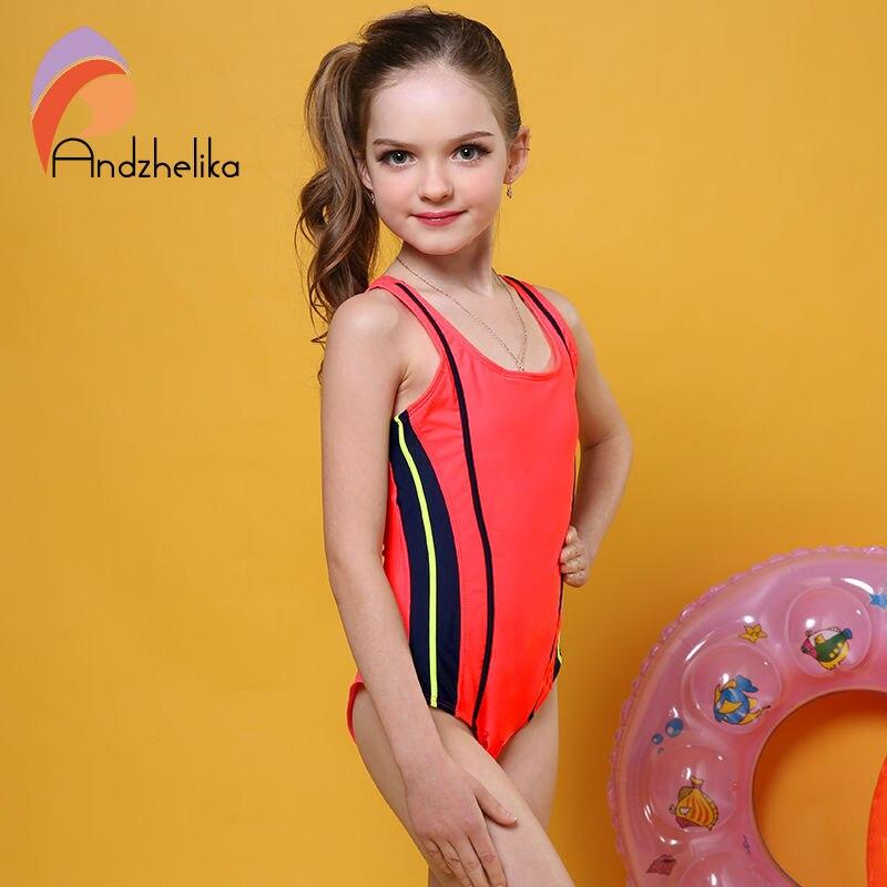 Andzhelika One Piece Children Swimsuit Girls Summer ...