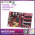ZHONGHANG zh-um cartão de controle de led venda quente 32*512 pixel usb/porta serial levou controlador de cartão para p10 levou módulo