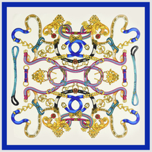 100% Silk Scarf Women Scarf  Pattern Chain Silk Wrap Foulard Square Silk Scarf Hot Female Bandana Lady Gift