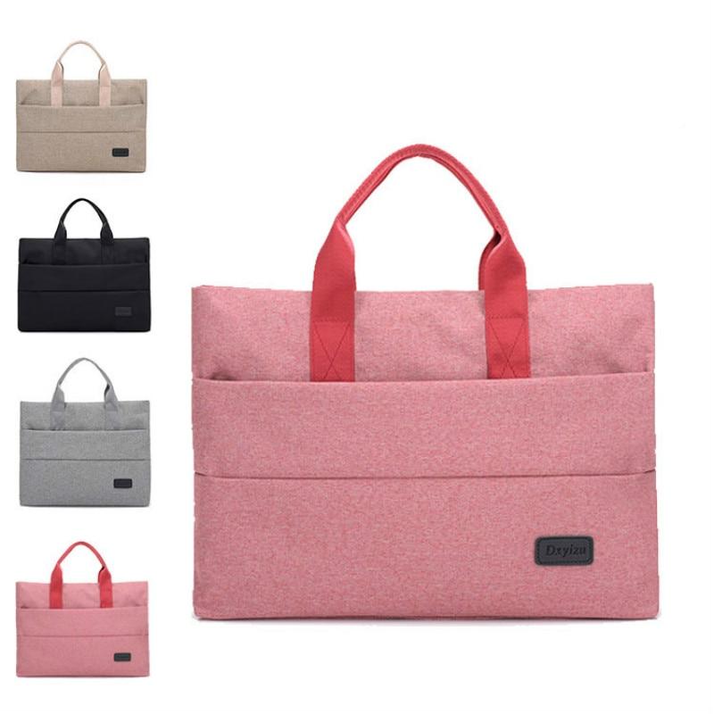 High Grade Portable File Bag Capacity Fashion Creative Tote A4 Folder Filing Meeting Bags Waterproof Canvas
