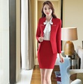 Plus Size 4XL Professional Ladies Office Work Wear Skirt Suits Jackets And SKirt Formal Autumn Winter Business Women Blazers