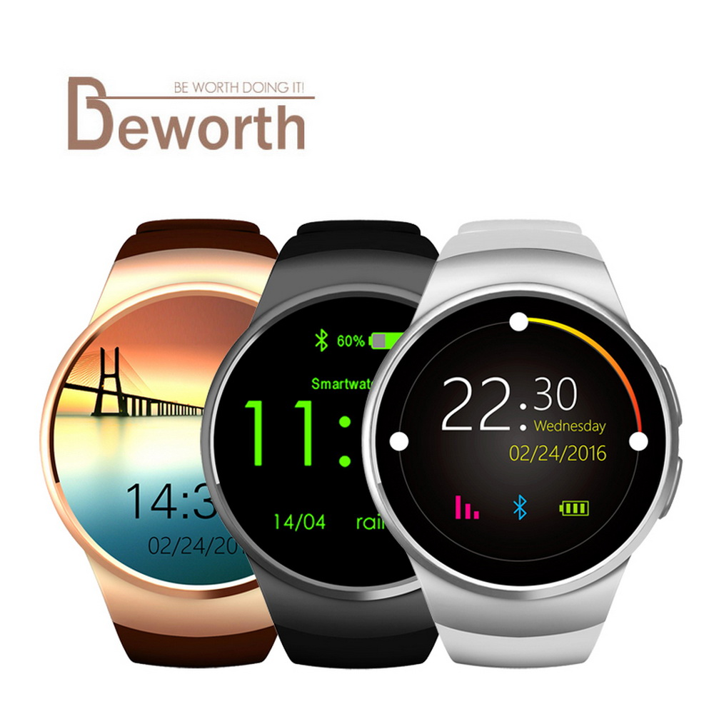 цена на KW18 Smart Watch Bluetooth Support SIM TF Card Heart Rate Monitor Inteligent Smartwatch Full Round IPS for iOS Android Phone