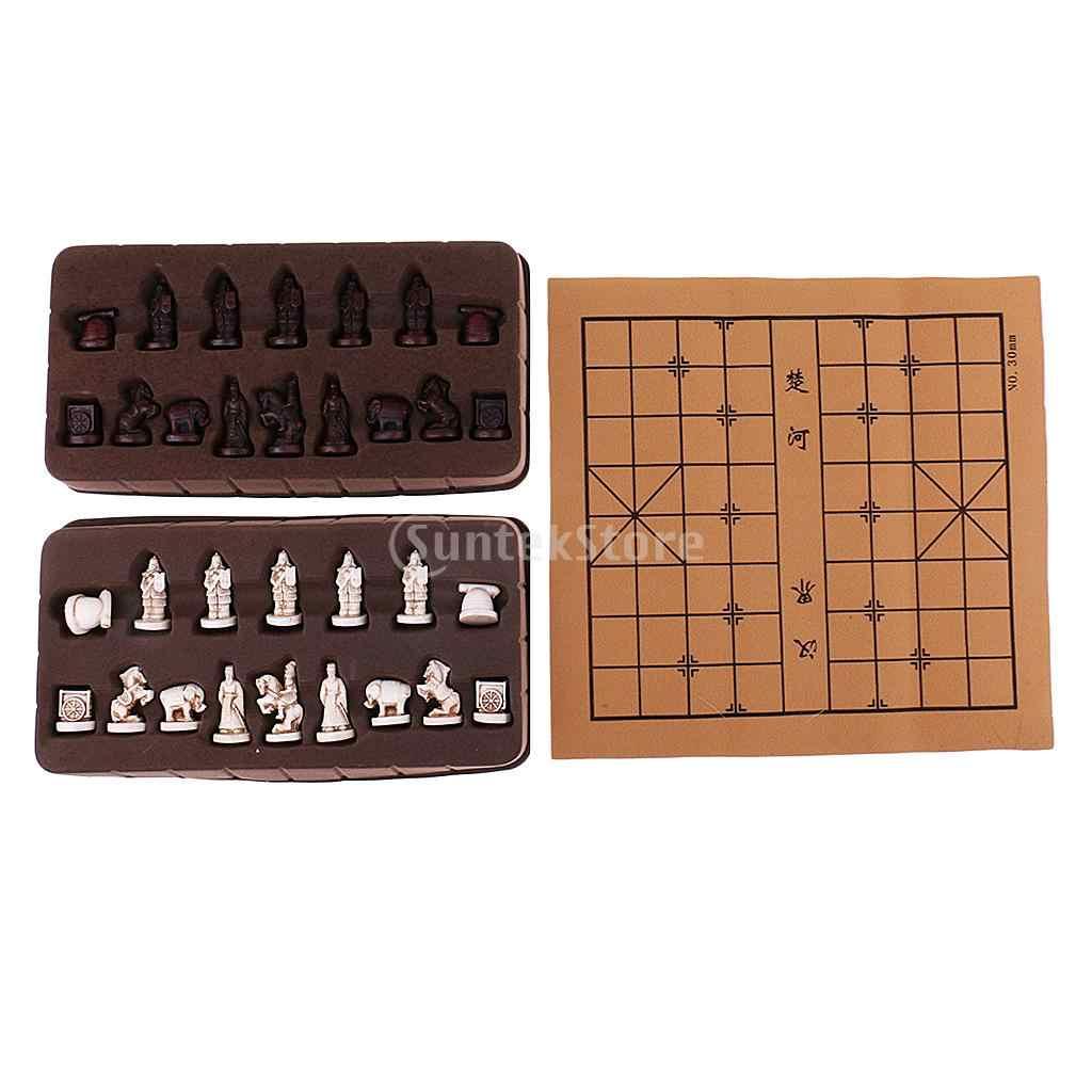 Indah Vintage Cina Catur Tradisional Resin Terracotta Army Potongan Xiangqi Permainan Kerajinan Koleksi Hadiah Catur Cina Chess Armyresin Catur Aliexpress