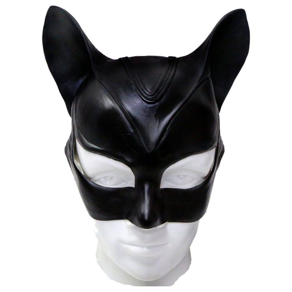 Batman Catwoman Mask Latex Helmet Halloween Cute Animal Mask Catwoman Cosplay Costume Props