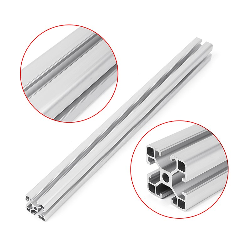 4040 500mm Length T Slot Aluminum Profiles Extrusion Frame For CNC 3D Printers Plasma Lasers Stands Furniture 4040 length 300mm t slot aluminum profiles extrusion frame for cnc 3d printer lasers stands furniture durable