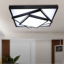 Brief acrylic square led ceiling light modern fashion wrought iron bedroom ceiling lights 85-265V 63x63CM,80x80CM