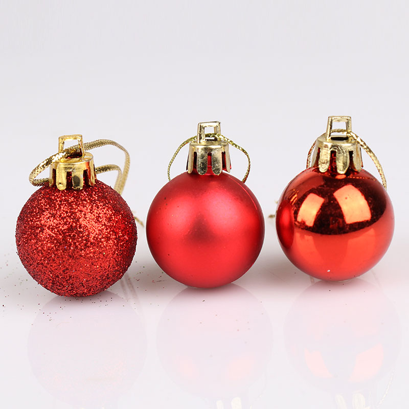 Christmas Tree Balls.24pcs Christmas Tree Ball Decorations For Diy Xmas Party Wedding 3cm Ball Baubles Hanging Ornament For Home Christmas Decoration