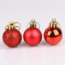 24pcs/Lot Christmas Tree 3cm Ball Baubles Hanging Ornament