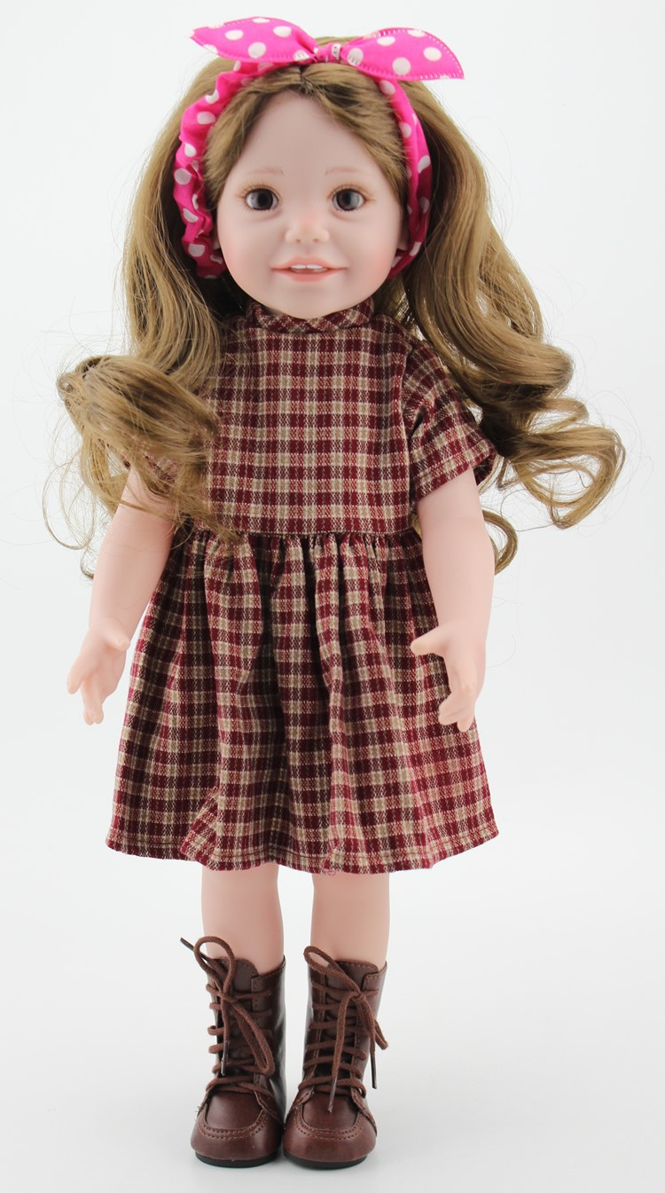18 Inch Full Vinyl Girl Dolls With Vintage Style Doll