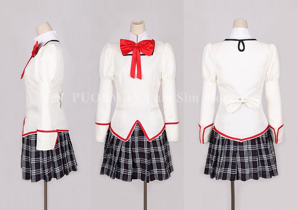 Anime Puella Magi Madoka Magica Cosplay Mitakihara Middle School Uniform Cosplay Costume Halloween Custom Made