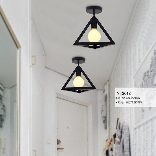 E27 Metall Industriellen Stil Schwarz Eisen Hängen Deckenleuchten Wohnzimmer  Lichter Led Deckenleuchte Moderne Kurze