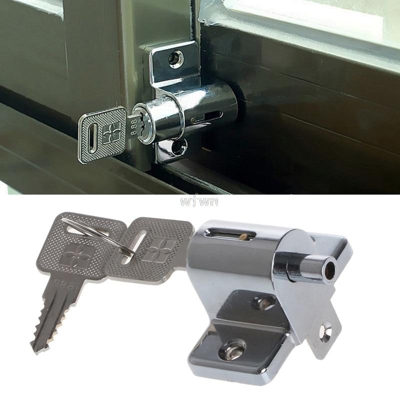 New Zinc Sliding Window Patio Screw Door Locking Pin Push Child Safety Lock