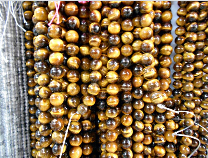 Natural Stone Brown Gold Tiger Eye Round Beads 15 Strand 2 3 4 6 8 10 12 14MM Pick Size For Jewelry