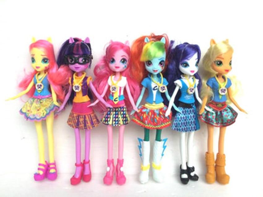 Original genuine Monsters Highs EG Doll Girls Dolls Twilight sparkle Applejack Rainbow classic toys Best Gift for Girl anime toy