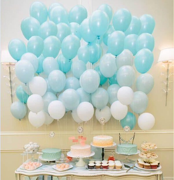 Tiffany Blue Balloons 10pc 10 Inch Thick 2 G Birthday Ballons Decorations Wedding Sea Foam Aqua Party Supplies In Accessories From Home