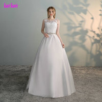 Branco lindo Vestidos De Noiva 2017 Novo Vestido de Casamento Formal Sexy Longo Tulle Apliques vestido de Baile Do Marfim Vestidos de Casamento Custom made