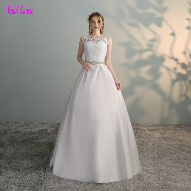 Gorgeous White Wedding Dresses 2018 New Sexy Formal Wedding Dress Long Tulle Appliques Ball Gown Ivory Wedding Gowns Custom made