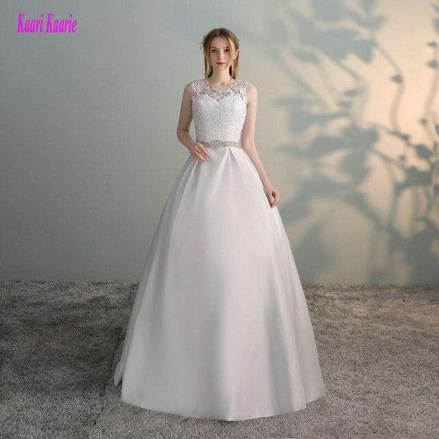 e42315335283 Splendido Bianco Abiti Da Sposa 2019 Nuovo Sexy Vestito Da Cerimonia  Nuziale Convenzionale Lungo di Tulle