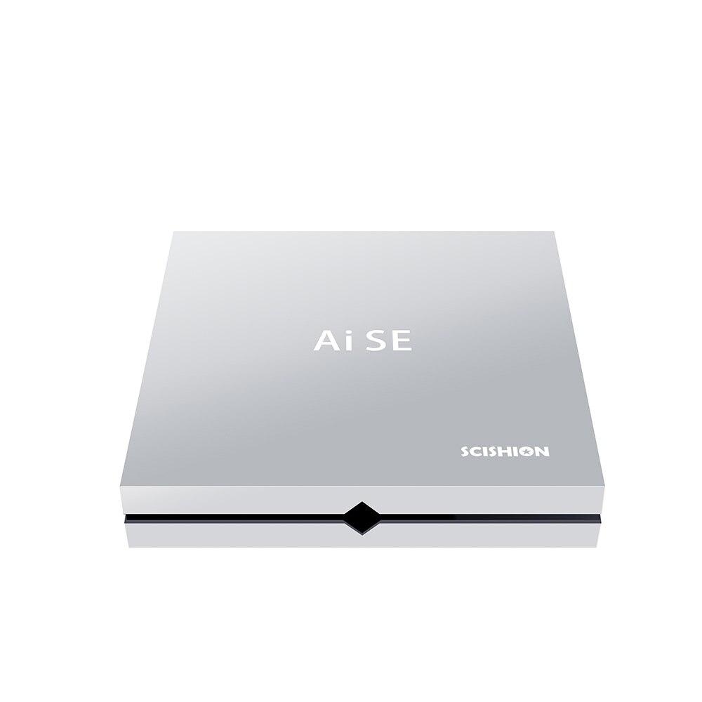 4 k VP9 décodeur SCISHION AI SE Android 8.1 RK3399 TV box 4 GB 64 GB pour GoogleTV télécommande HDMI2.0 avec télécommande IR