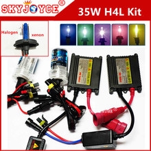 AC 12V hid H4 kit xenon H4-2 8000K 35W xenon H4 white headlight bulb 5000K 6000K 4300K 3000K yellow deep blue H4-2 pink purple