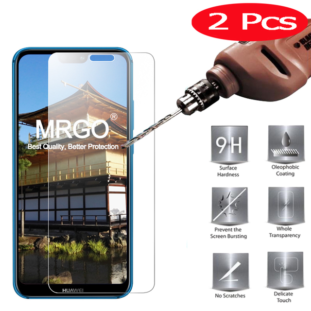 2Pcs MRGO Screen Protector for HUAWEI P20 Lite Tempered Glass 2.5D 9H HUAWEI P20 Lite Tempered Glass for HUAWEI P20 Lite