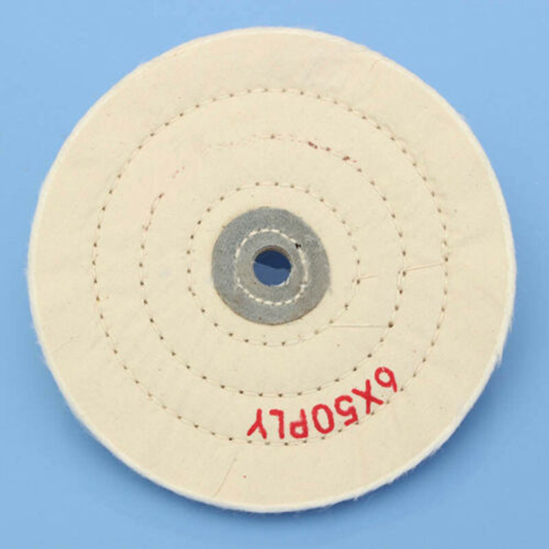 150mm 6 Spiral Stitched Cotton Buffing Polishing Wheel Mop For Bench Grinder UK