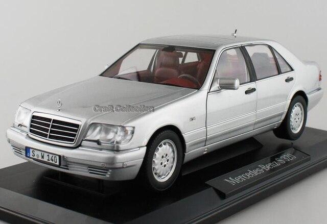 * Серебро 1:18 классическая модель автомобиля Benz S320 W140 седан литья под давлением модели автомобиля роскошные подарки редкие миниатюрный