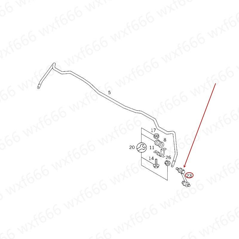 Задняя балансировочная вешалка для бара, головка рулевой тяги, подходящая для S320 S350mer ced es-be nzS500, стабилизатор с шариковой головкой, малая стрела, задний поворотный рычаг