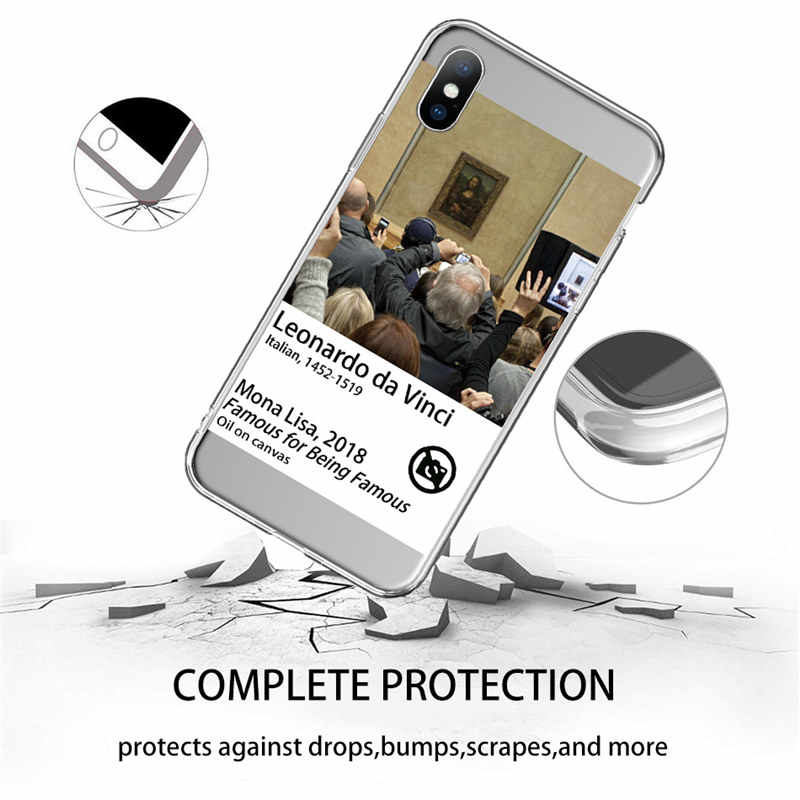 Ottwn Funny Art Schilderijen Telefoon Case Voor Iphone 11X7 8 6 6S Plus Xr Xs 11 Pro max 5 5 S Se Abstract Brief Clear Soft Tpu Cover