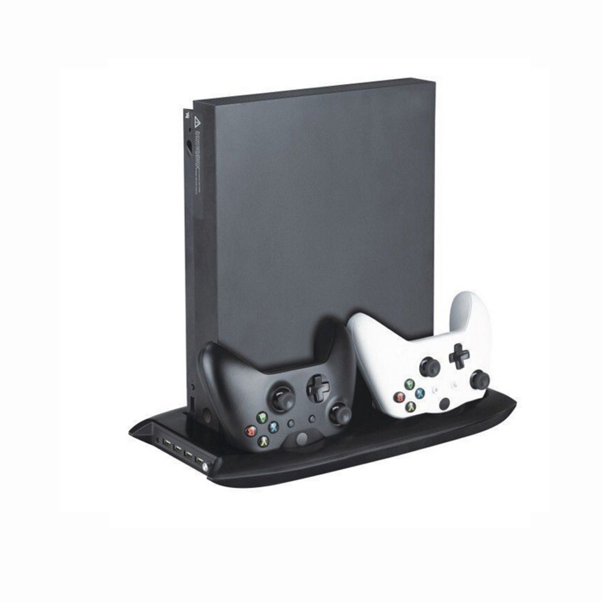 Hot sale Vertical Stand for Xbox one x with 4 USB Ports Hub Cooling Fan  Controller Charger Dock for Xbox one X Game Console free shippin