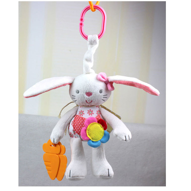 Plush Doll Hanging Stroller Infant Baby Toys 0-12 Months