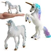 Европейский мифический Единорог фигурки Пегас эльф миниатюрные животные модель Фея летающий конь фигурки детская коллекция игрушечные ло...