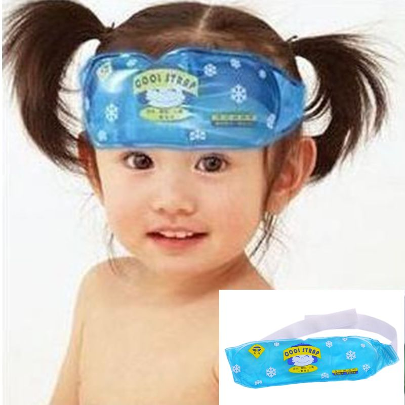 Children Fever Down Cold Strap Baby Physical Cooling Ice Pack Compress Antipyretic Paste Belt